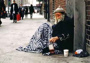 2000 -  Homeless man in New York City.